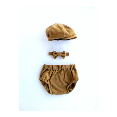 Brown Cotton Tweed Charlie Set