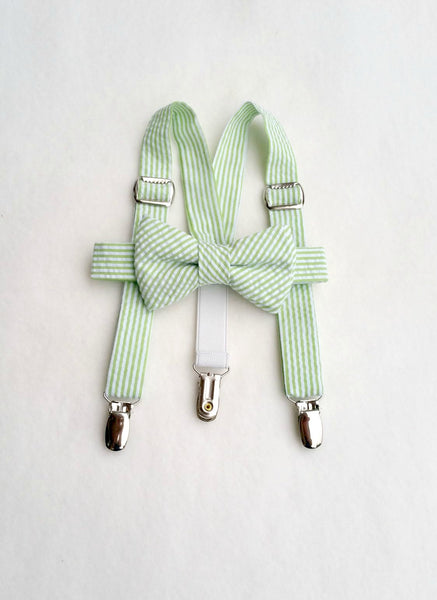 Lime Suspenders and Bow Tie