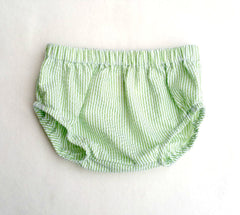 Lime Seersucker Diaper Cover