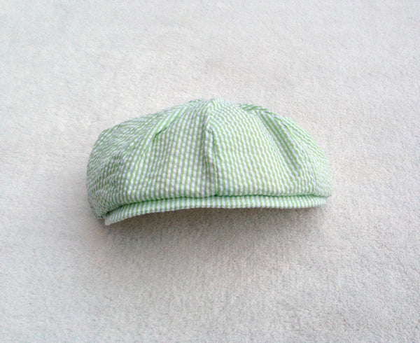 Seersucker Newsboy Hat in Color of Your Choice