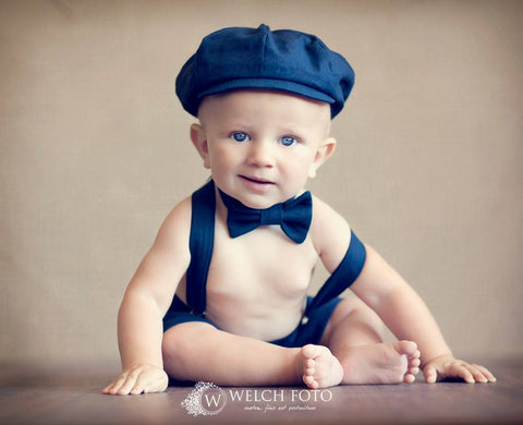 Ready to Ship Henry Newsboy Set in Navy