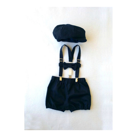 Artie Newsboy Set in Navy