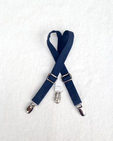 Ready to Ship Navy Blue Suspenders