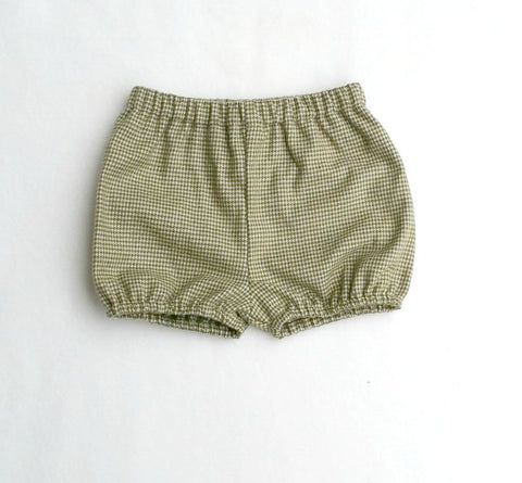 Olive and Cream Houndstooth Shorties