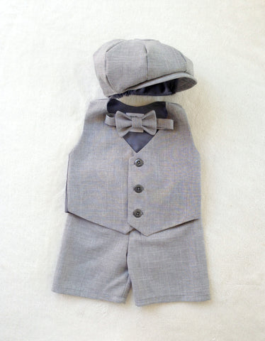Ready to Ship Wiley Set in Heather Gray Suiting