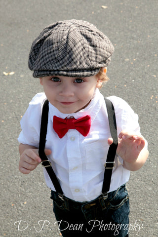 Holiday Bow Tie & Suspenders Set