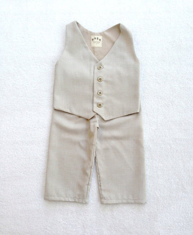 Ready to Ship Vest and Pants in Sand Suiting