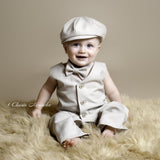 Light Tan Suiting Newsboy Cap