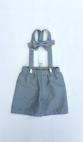 Oliver Set in Steel Gray natural linen/cotton