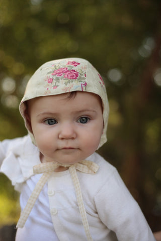Ivory and Rose Bonnet