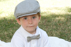Flat Cap in Heather Gray Suiting