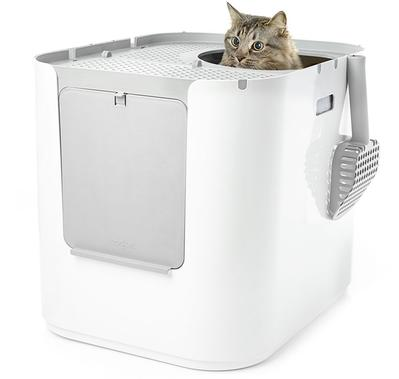 Modkat XL, top entry, front entry, modern cat litter box, extra large
