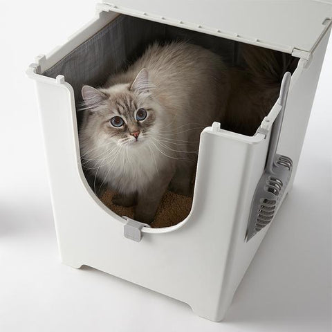 Flip Litter Box, spare liner & Tofu Litter Bundle