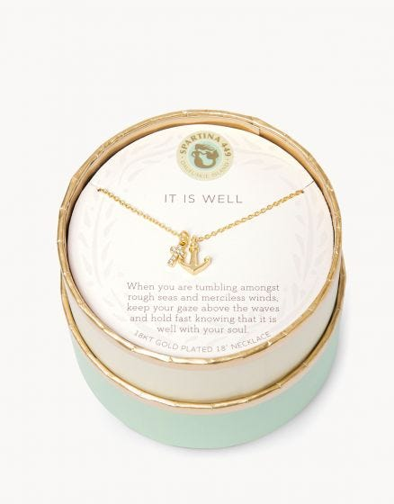 Spartina Necklace - It is Well