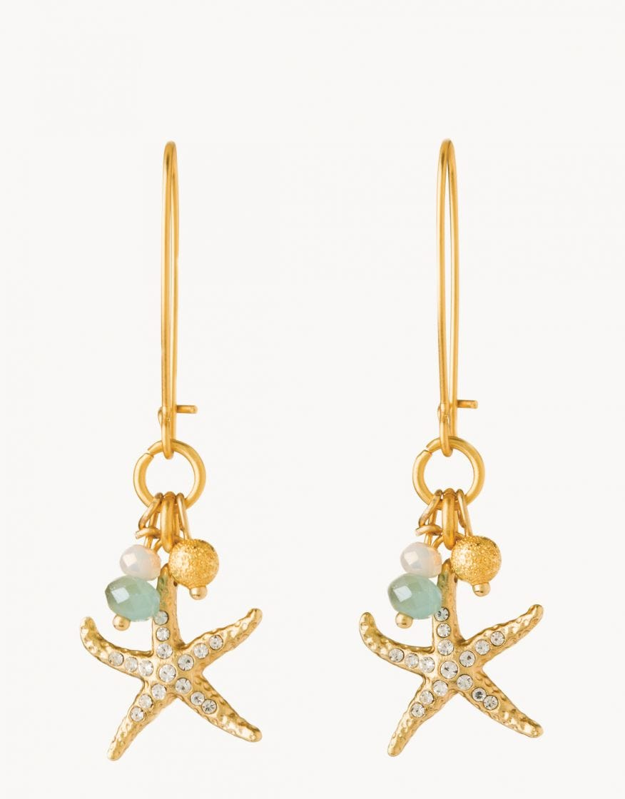 Earrings - Starfish Sparkle Drop