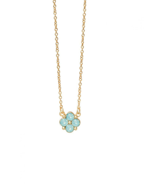 Spartina Necklace - Blessed/Sea Foam Clover