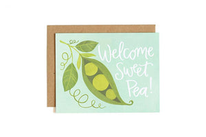 Greeting Card - Welcome Sweet Pea