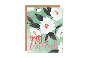 Greeting Card - Lovely Floral Birthday