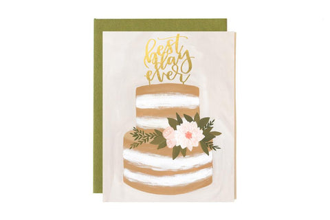 Greeting Card - Wedding Best Day