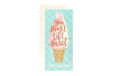 Greeting Card - Ice Cream Birthday