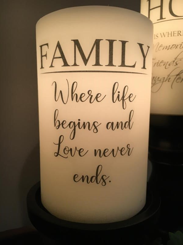 Candle Sleeve - Family Where Life Begins