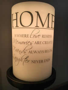 Candle Sleeve - Home is Where Love