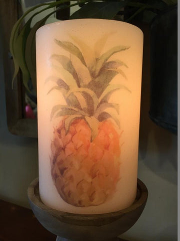 Candle Sleeve - Pineapple