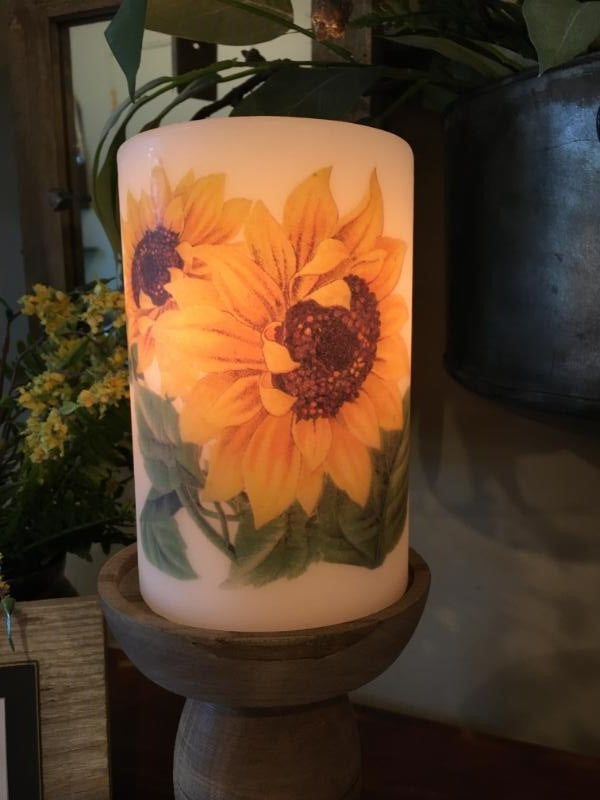 Candle Sleeve - Sunflower, Double Head