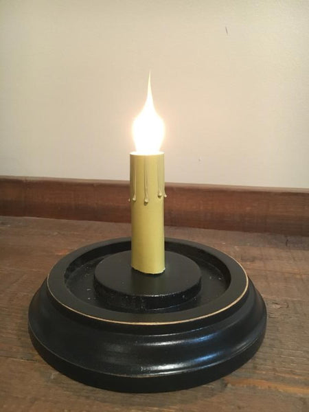 Electric Candle Base - Flat Round
