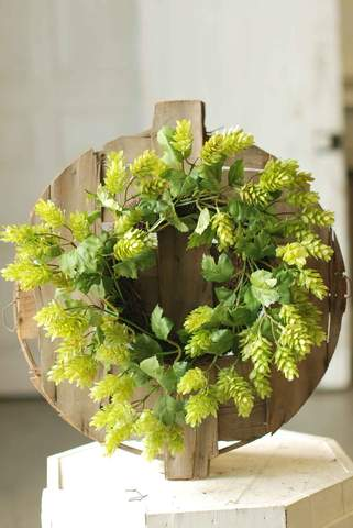 "Candle Ring/Wreath - 15"" Hops"