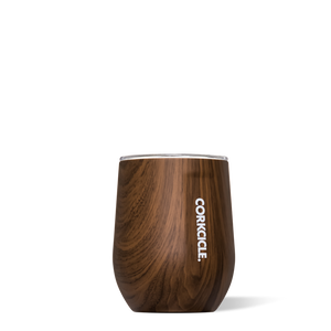 Stemless Wine Tumbler -Walnut Wood -12 oz.