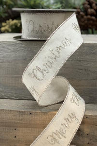 Ribbon - Cotton/Linen Ivory