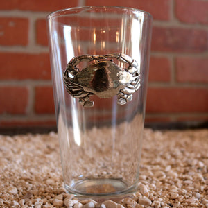 Pewter Blue Crab - Pint Glass