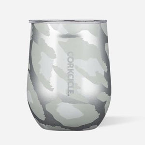 Stemless Wine Tumbler - Snow Leopard 12 oz.