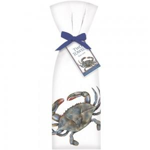 Flower Sack Kitchen Towel - Blue Crab