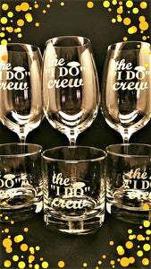 Wedding Party gift glasses (Set of four)