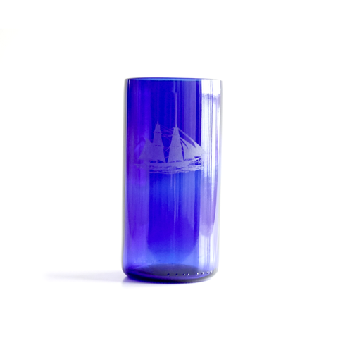Recycled Blue Glass Tumbler