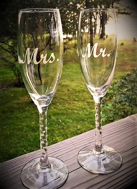 Wedding Champagne Flutes (Set of two)