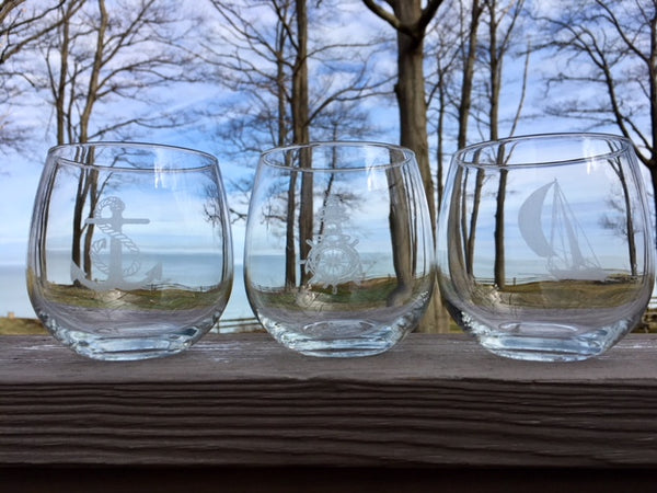 Custom design Stemless Wine Glasses