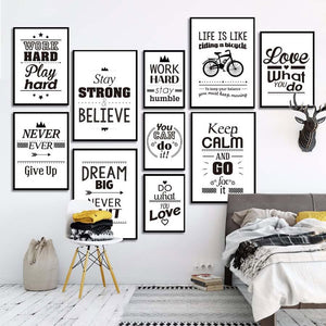 A Pop of Positive Modern Wall Prints