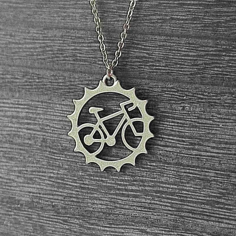 stainless steel bicycle pendant and chain