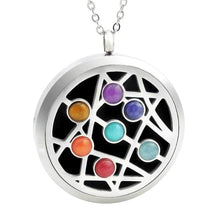 Load image into Gallery viewer, star burst oil diffuser necklace