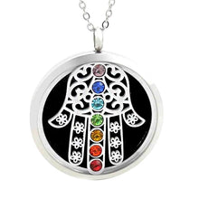 Load image into Gallery viewer, aromatherapy necklace diffuser chakra hand