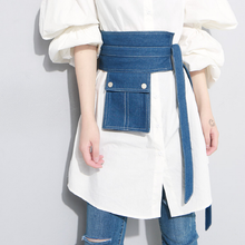 Load image into Gallery viewer, denim belt front view