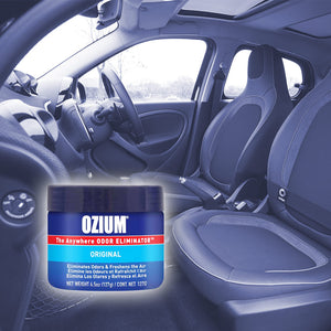 Ozium™ Car Odor Eliminating Gel Air Freshner, Original Scent, 4-Pack Quantity