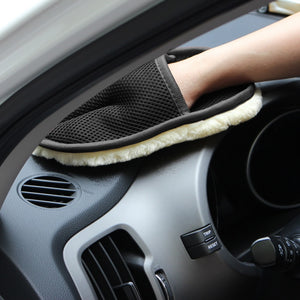 Car-N-Glide Soft Woolen Washing Gloves Cleaning Microfiber Cloth Pad