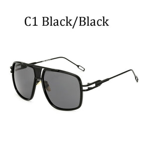 Oversize Square Men's Mirror  Sunglasses Thick Rims