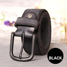 Load image into Gallery viewer, textured black leather belt