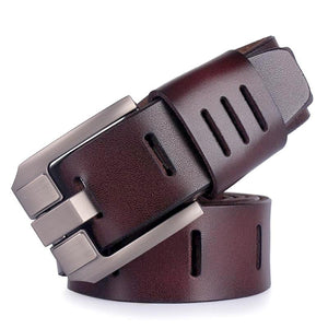 matte finish modern leather belt