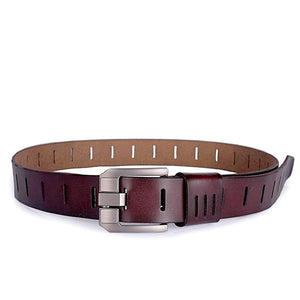 matte finish modern leather belt front view